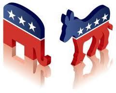 Democrat & Republican logos