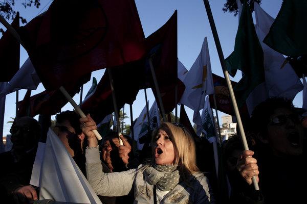 Cyprus protestor