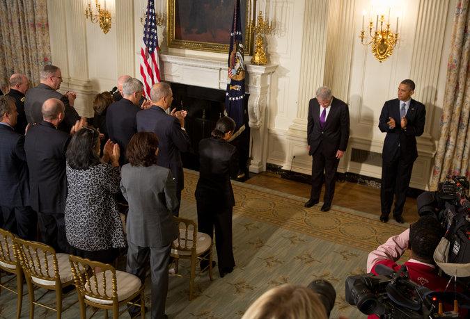 Hagel Resigns Under Pressure as Global Crises Test Pentagon  11/24/14