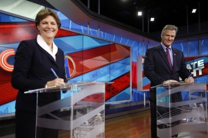Democratic Sen. Jeanne Shaheen and Republican candidate Scott Brown
