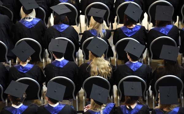 german students at graduation in Hamburg