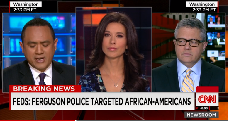 Justice report finds systematic discrimination against African Americans in Ferguson  3/3/15