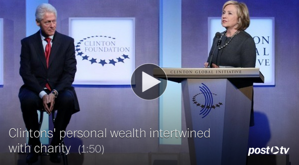 For Clintons, speech income shows how their wealth is intertwined with charity  4/23/15