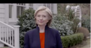 Hillary in launch video 041215