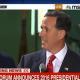 Santorum announcement on MSNBC