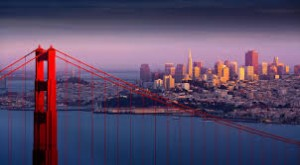 San Francisco skyline thru Golden gate