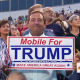 Trump in Mobile crowd-sign