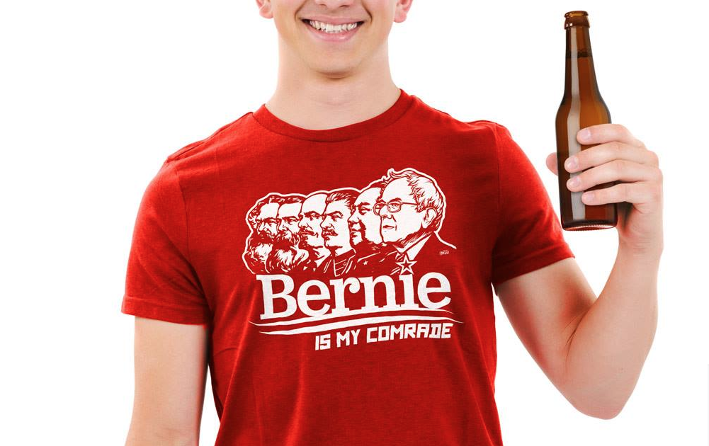 Bernie Sanders' Campaign Is Trying to 'Suppress' 'Bernie Is my Comrade' Shirts  4/20/16