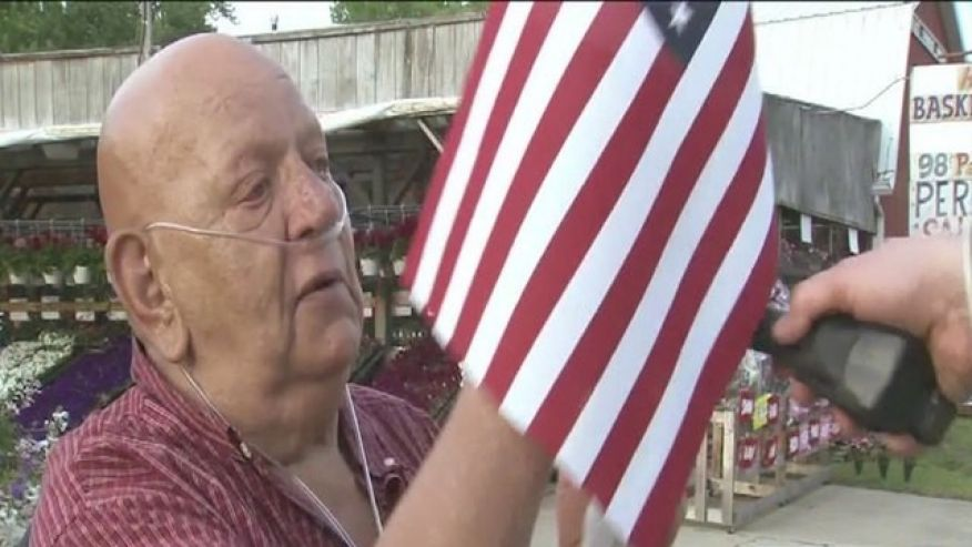 'All-American City' confiscates elderly man's American flags  5/27/16