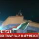 Protestors outside Trump rally in Albuquergue