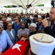 Erdogan making speech after coup at funeral of victims