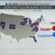 Clinton bounce - CBS Survey