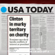 Hillary  Foundation in murky water-USA Today paper