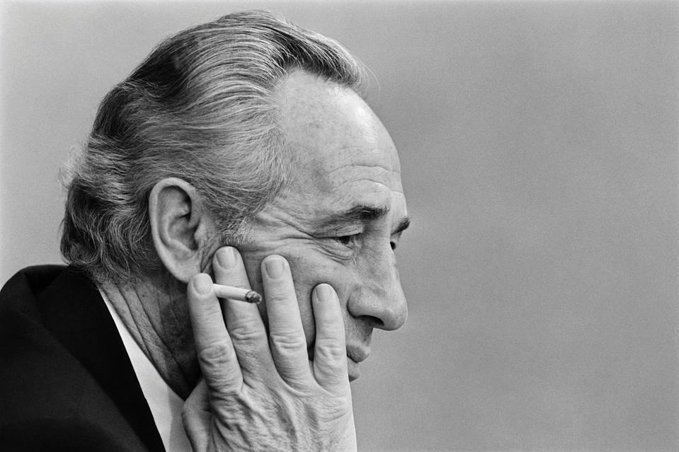 Shimon Peres, Former Israeli Leader and Nobel Winner, Dies at 93  9/28/16