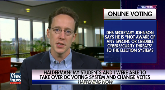 Professor exposes vulnerability of DC's online voting system  9/21/16