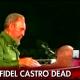 Castro speaking over death notice