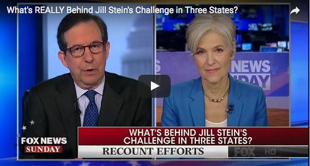 Chris Wallace Grills Jill Stein About Recount  12/5/16