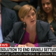 Samantha Power at UN vote on Israel