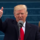 Donald Trump at Inauguration with thumbs up