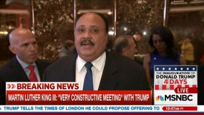 Reporters Plead with MLK III to Attack Trump; Did Lewis Tweets Shake You 'To Your Core?'  1/18/17