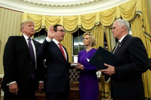 MNUCHIN swearing in as Secretary of treasury
