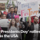 Trump demontrations on President's Day
