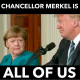 Angela Merkel facial expression at presser with Trump