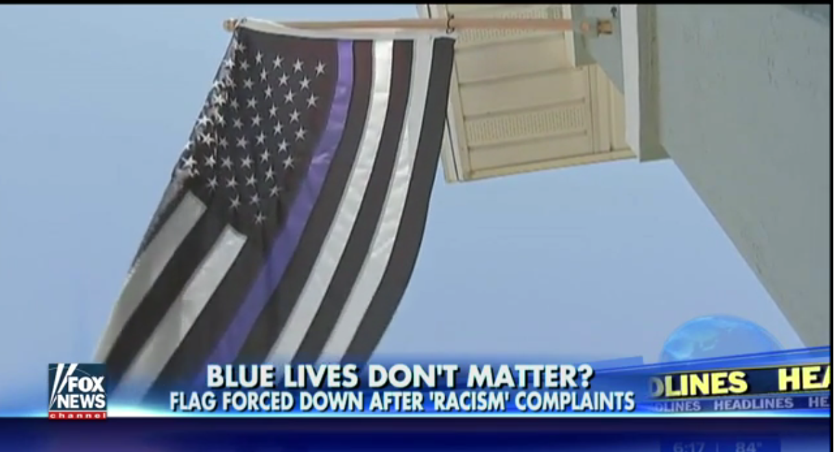 Blue Lives Matter flag deemed 'racist,' ordered to come down  3/24/17