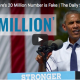 Obama on 20 million with Obamacare