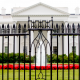 White House thru North Lawn fence 2