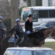 Zinke on horseback
