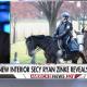 Zinke on horseback visiting Interior dept