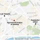 Paris map of ISIS shooting of police