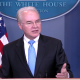 Tom Price speaking at WH