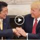 Trump shaking Abe's hand
