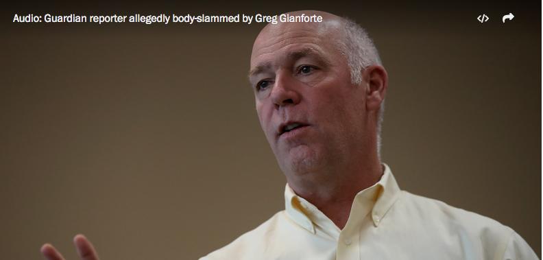 Fox News team witnesses GOP House candidate 'body slam' reporter  5/25/17