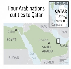 Qatar-four arab nations cut ties