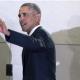 Obama waving with shadows