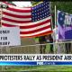Protestors pro-Trump at US Womens open