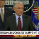 Sessions responds to criticism from President