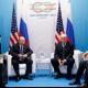 Trump - Putin and teams at G20 meeting