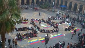 Venezuela-Crisis SOS demonstrators
