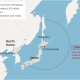 North Korean missile launch over japan 082917 map