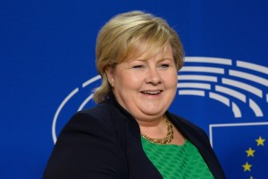 Norwegian Prime Minister Erna Solberg in Brussels, June 7