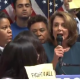 Pelosi trying to get control of her press conference