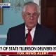Tillerson making speech