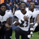 Anthem protests- Ravens knelling in London