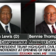 Lewis & Thompson boycott Trump speech