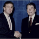 Trump & Reagan shaking hands