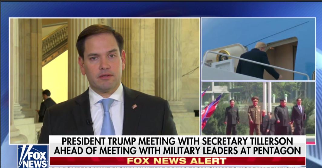 Sen. Rubio talks No. Korea nuclear threat, gov't shutdown drama  1/18/18